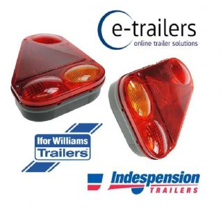Pair - Genuine Radex 2900 Plug In Trailer Light Units Indespension Ifor Williams